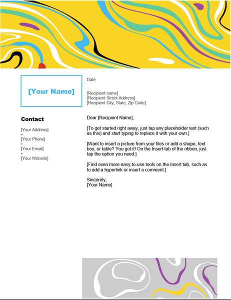 Swirl color letterhead