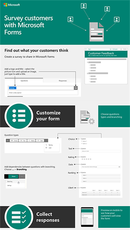 Survey customers with Microsoft Forms