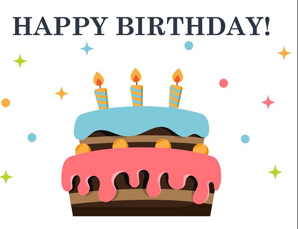 Big cake birthday card