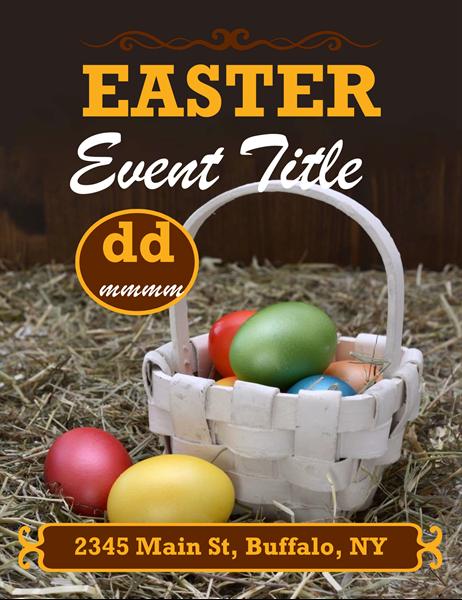 Easter basket flyer