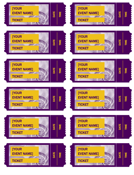 Purple event tickets