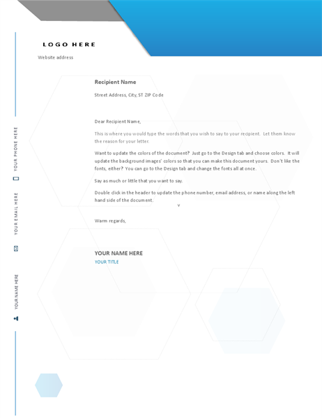 Hexagon letterhead