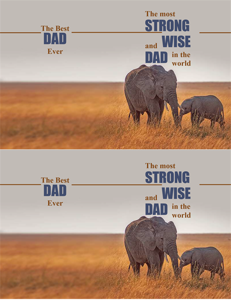 Wise elephant Father's Day card