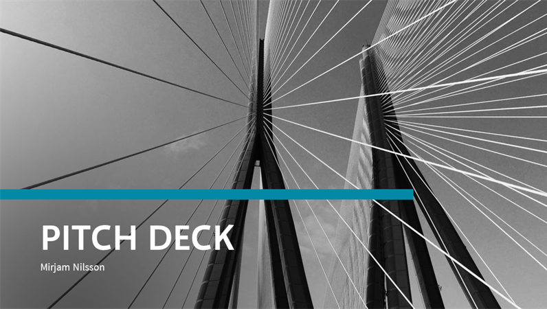 Financial pitch deck