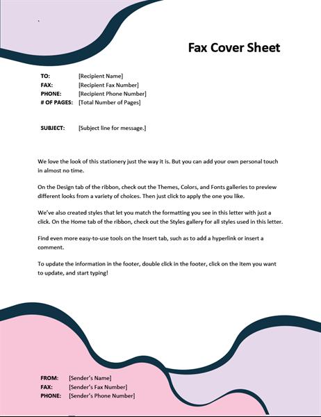 Fax cover sheet (standard format)
