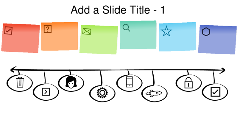 Sticky note graphic timeline