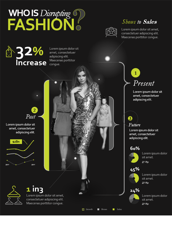 Fashion infographics poster