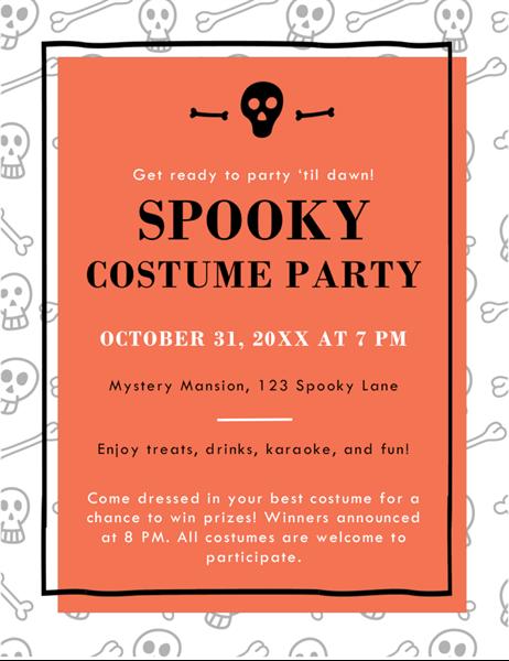 Celebrate Halloween flyer