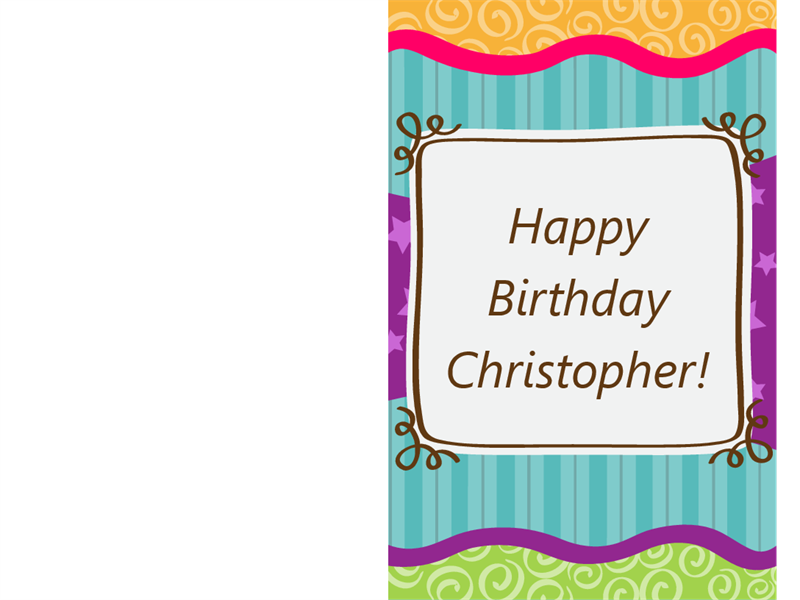 Stars and stripes birthday card (half-fold)