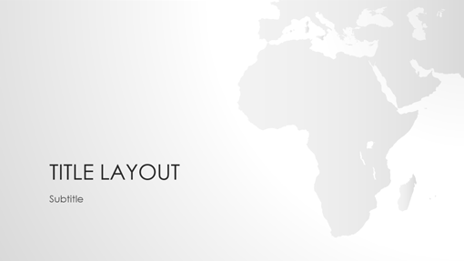 World maps series, Africa presentation (widescreen)