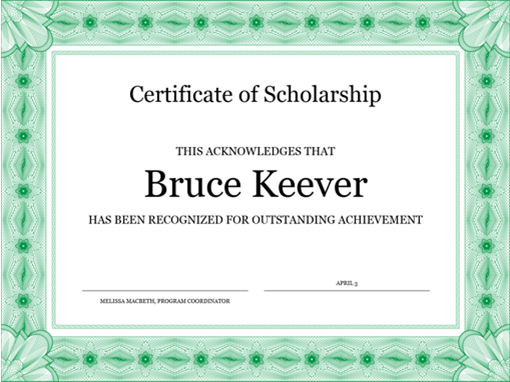 photo about Free Printable Certificates of Completion called Certificates -