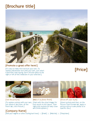 Photo travel brochure