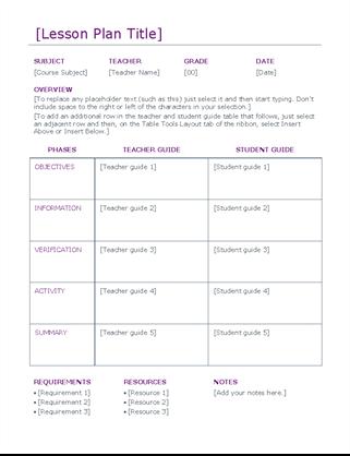 Lesson plan (color)