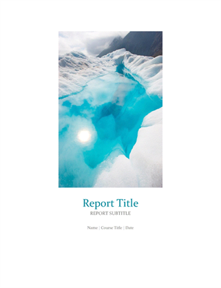Student report with cover photo