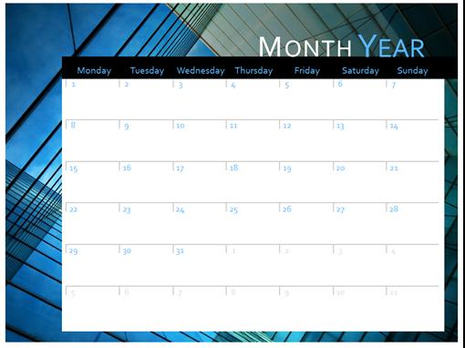 2019 calendar (Mon-Sun)