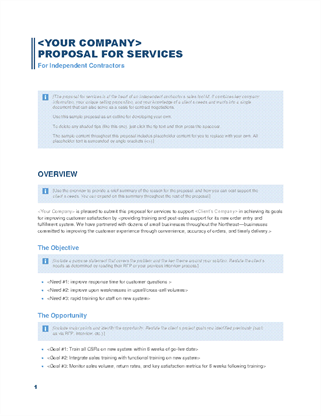 Business services proposal