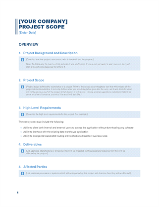 Project scope report