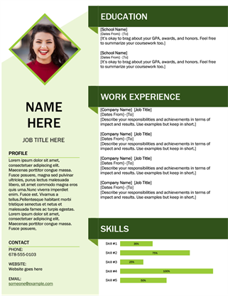 Green cube resume