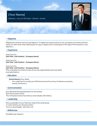 Blue sky resume