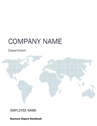Business report notebook kit