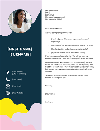 Organic shapes cover letter