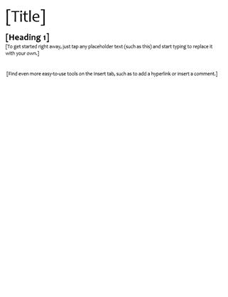 Spec design (blank)