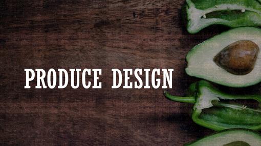 Produce Wood Type design