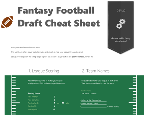 Fantasy football draft cheat sheet 2019