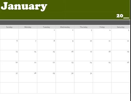 Banner calendar