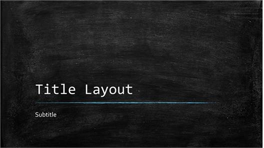 Chalkboard education presentation (widescreen)