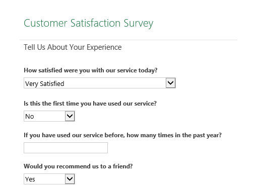 Surveys Office – Free Questionnaire Template Word