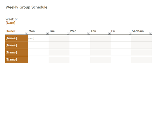 Schedules Office – Microsoft Office Weekly Calendar Template