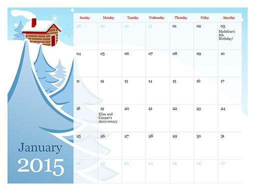 microsoft word 2015 calendar template Template – Word Template Calendar 2015