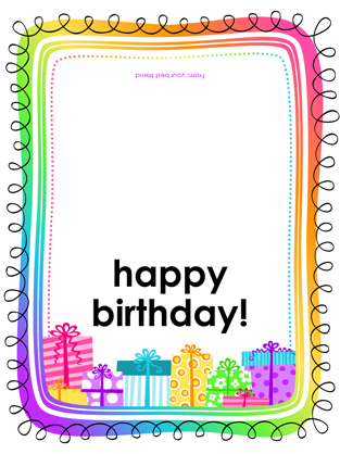 Birthday card gifts on white background half fold office birthday card gifts on white background half fold bookmarktalkfo Choice Image