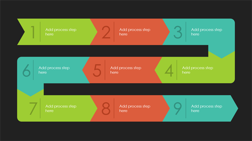 process path infographic quotable theme widescreen