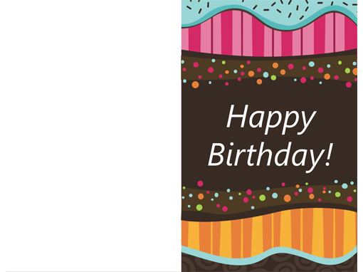 birthday card  dots and stripes kids, halffold  office templates, Birthday card