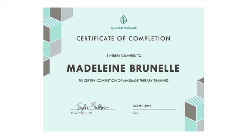 Certificate Of Completion (blue)  Award Word Template