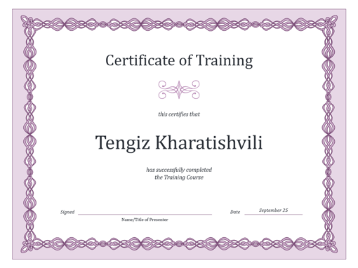 Certificates office certificate of training purple chain design thecheapjerseys
