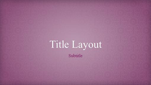 Pink floral brocade design presentation (widescreen)