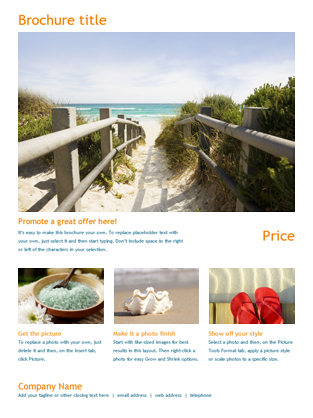 Brochures - Office.com Word Online Template Travel brochure ...
