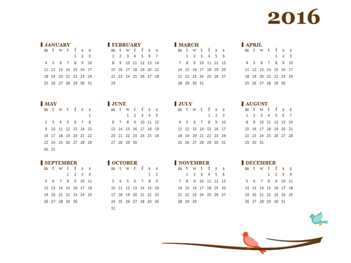 2016 calendar - Templates - Office.com