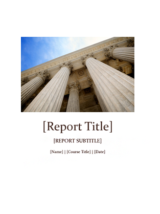Templates for Word Student report with cover