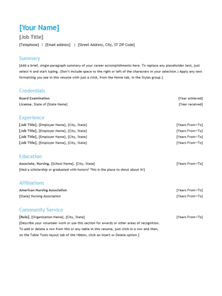 resume chronological templates