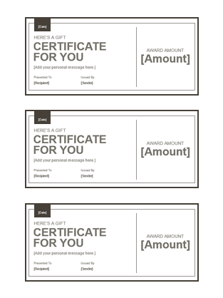 openoffice gift certificate template