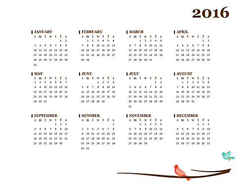 2016 calendar (Sun-Sat) - Office Templates
