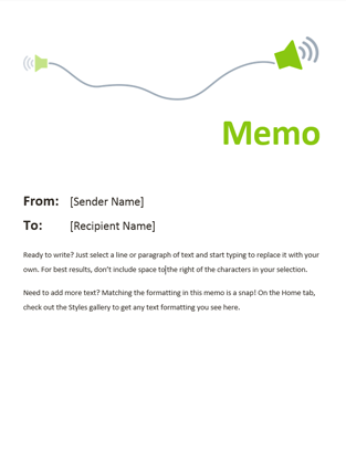 Office Templates   Office 365  Professional Memo Format Template