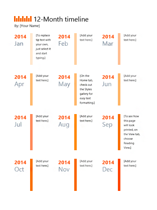 timelines microsoft office