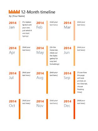 12-month timeline - Templates - Office.com