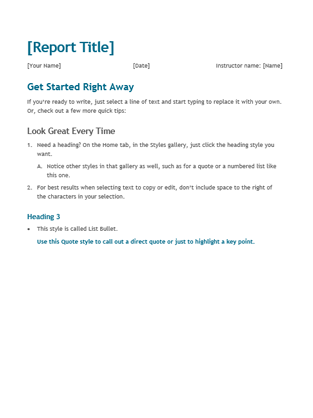 Executive Summary Report Template Sample Templates