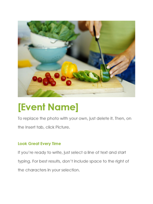 Event Flyer Office Templates - Event brochure template